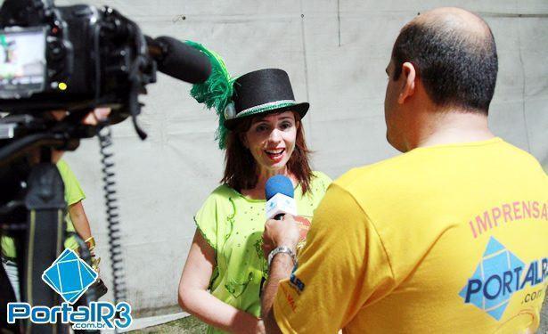 Luciana Morais, fala com a reportagem do PortalR3. (Foto: Fernando Noronha/PortalR3)