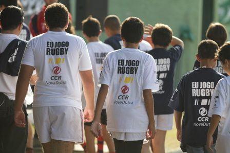 O Jacareí Rugby e o São José Rugby são parceiros da CCR NovaDutra em projetos de inclusão social pelo esporte. (Foto: Rafael Silva/CCR NovaDutra)