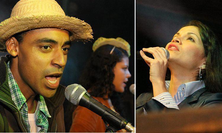 Muzak e Asnega e Bianca  Ariel, são os vencedores do Festival de Músicas da Juventude de Pindamonhangaba. (Fotos: Denis Silva/PortalR3)