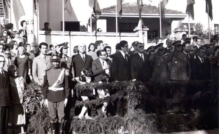 Pindamonhangaba foi a única cidade escolhida para uma das principais paradas, aqui  chegando e pernoitando no dia 02 de setembro de 1972 e seguindo viagem no dia seguinte para Aparecida. (Foto: Reprodução/Arquivo Dr. Francisco Piorino)