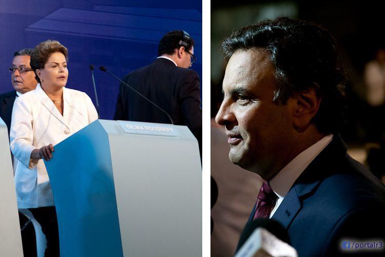 Dilma e Aécio estão no 2º turno pela Presidência. (Fotos: Fernando Noronha/PortalR3)