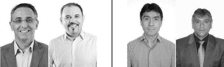 Eduardo Cury e Flavinho, à esquerda, foram eleitos deputado Federal e Nishimoto e Padre Afonso, eleitos como deputado Estadual. (Foto: TSE)