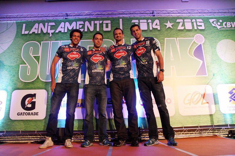 Representantes de Taubaté na abertura da Superliga. (Foto: Alexandre Arruda/CBV)