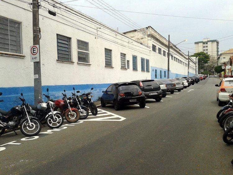 Nova área de estacionamento ao lado do Batalhão Borba Gato. (Foto: Divulgação/PMP)