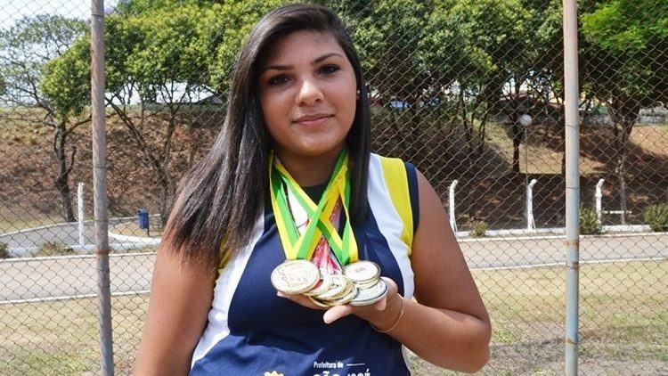 Angelica Carregosa Rodrigues coleciona títulos no lançamento de martelo, modalidade de prova do atletismo. (Foto: Tião Martins/PMSJC)