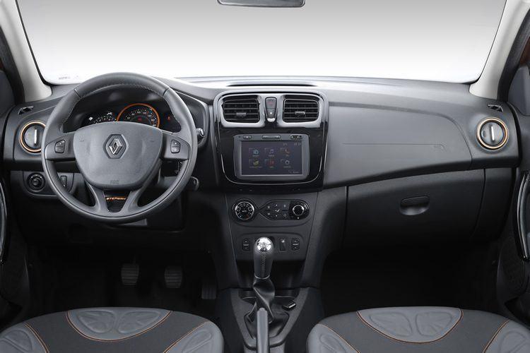 Interior do novo Sandero. (Foto: Divulgação/Renault)
