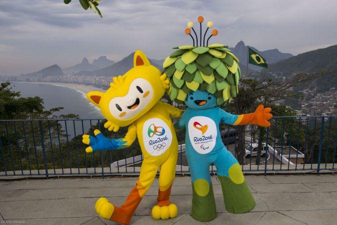 Mascotes dos Jogos Olímpicos e Paralímpicos Rio 2016 posam para fotos (Foto: Rio 2016/ Alex Ferro)