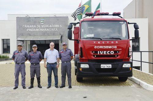 Nova viatura foi apresentada na segunda-feira (24), na Câmara de Vereadores. (Foto: Divulgação/CVP)