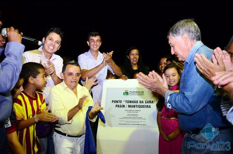 Inauguração da ponte na região do distrito de Moreira César. (Foto: Luis Claudio Antunes/PortalR3)