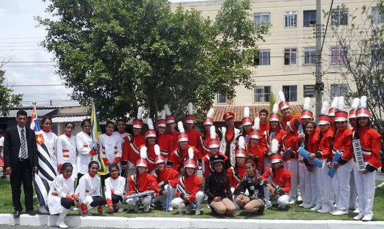 Alunos de São Sebastião que participaram do concurso. (Foto: Divulgação)