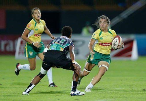 Resultado é inédito para a Seleção Brasileira feminina de rugby. (Foto: Dubai Sevens/Divulgação)