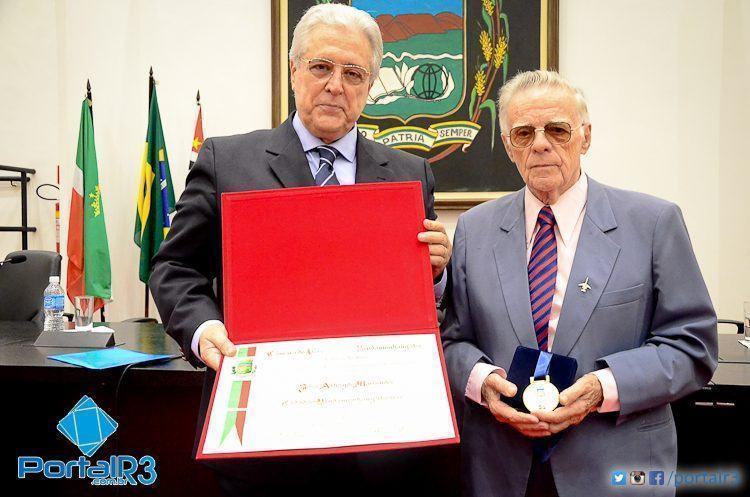José Luiz Gândara Martins (esq.), neto de Athayde Marcondes e Francisco Piorino. (Foto: Luis Claudio Antunes/PortalR3)