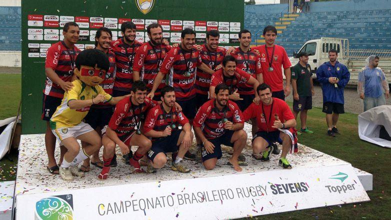 A colocação no Campeonato BR Sevens foi conquistada diante do Curitiba (PR) em jogo no Estádio Martins Pereira. (Foto: Divulgação/PMSJC)
