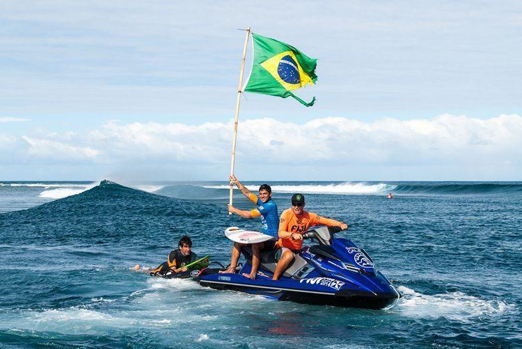 Na foto, Medina comemora vitória na etapa do WCT de Fiji. (Foto: Ryan Miller/Red Bull Content Pool)