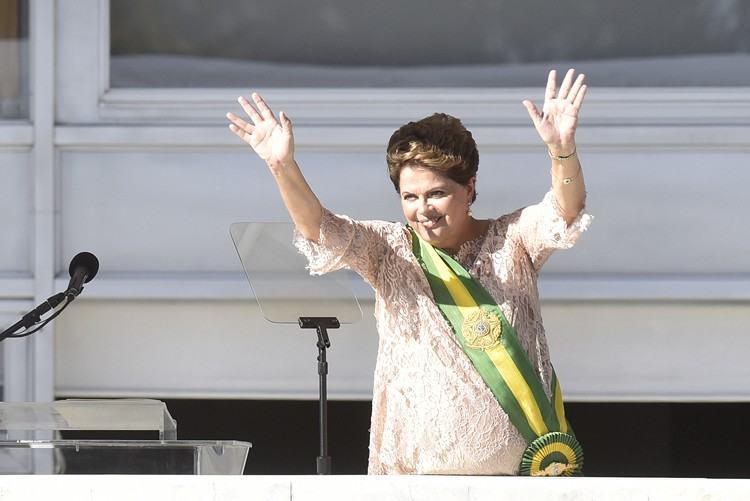 Dilma durante cerimônia de posse em Brasília. (Foto: Cadu Gomes/Fotos Públicas)