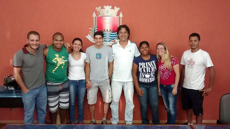Empossada recentemente, a nova diretoria reuniu-se com o prefeito na última terça-feira, dia 6, (Foto: Divulgação/PMU)