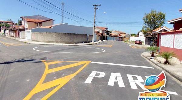 São cerca de 3.375 m² de asfalto nas ruas Antônio Nogaroto, Aurea de O. Vargas, João F. da Mota, Profª Cesarina de Q. Ribas e Jarbas S. Pinto. (Foto: Divulgação/PMT)