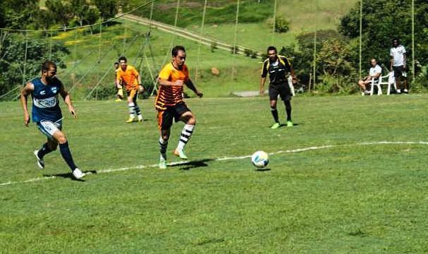 Time fez seu primeiro jogo-treino na cidade de Atibaia na manhã do último domingo (12). (Foto: Divulgação/Site Oficial)
