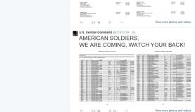 Página do Comando Central dos Estados Unidos (Centcom) no Twitter foi suspensa após ter sido alvo de ataque de um grupo de hackers ligados ao Estado Islâmico. (Foto: Divulgação/Governo dos Estados Unidos )