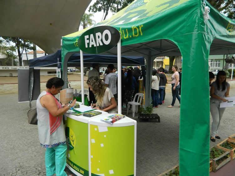 A ação acontece na Praça 9 de Julho, a partir das 9h,visando à promoção de um intercâmbio entre os alunos FARO e a comunidade local. (Foto: Divulgação/FARO)
