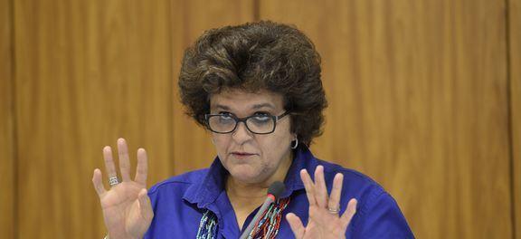 """Ministra Izabella Teixeira considera """"sensível"""" e """"preocupante"""" o cenário de abastecimento de água no país. (Foto: Wilson Dias/Agência Brasil)"""
