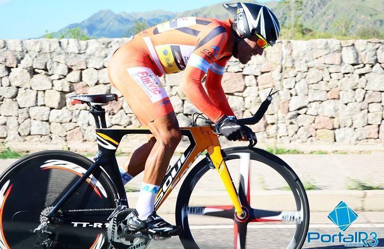 Díaz durante a prova de contrarrelógio, onde ficou com o 10º lugar. (Foto: Luis Claudio Antunes/PortalR3)