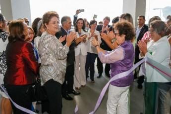 Dilma inaugura, em Campo Grande, a Casa da Mulher Brasileira. (Foto: Roberto Stuckert Filho/Presidência da República)