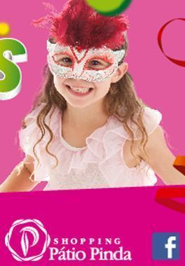 O Carnaval está chegando e o Shopping Pátio Pinda preparou uma programação especial para as crianças nos dias 13, 14 e 15 de fevereiro. (Foto: Divulgação)
