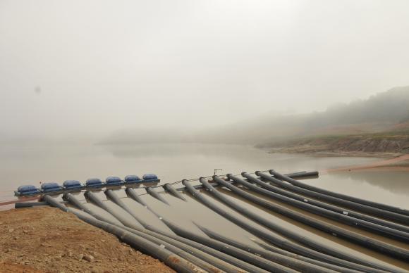 O volume de água economizado, acumulado no período, representa mais da metade do Sistema Guarapiranga cheio ou aproximadamente um décimo de todo o Cantareira (foto). (Foto: Sabesp/Divulgação)