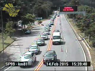 A rodovia foi bloqueada por volta da 1h de hoje, entre os quilômetros (km) 80 e 60 para a remoção de uma carreta tombada. (Foto: DER)