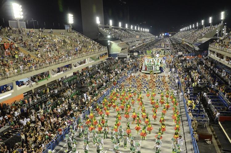Sambódromo do Rio recebe segunda noite de desfiles, neste sábado (14). (Foto: Alexandre Macieira/ Riotur)