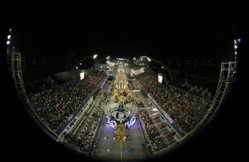 Apresentação da Vai Vai no Sambódromo do Anhembi. (Foto: Robson Fernandjes/LIGASP/Fotos Públicas)