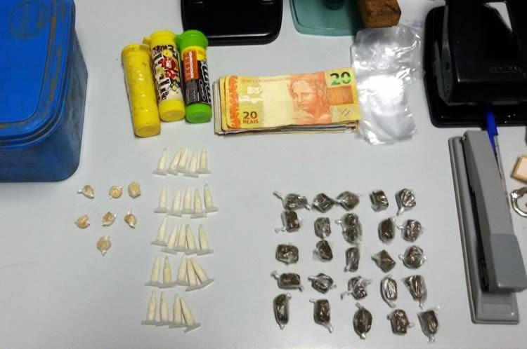 Drogas apreendidas no Shangri-lá. (Foto: Polícia Civil)