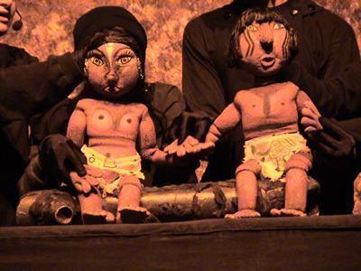 O teatro infantil faz parte do projeto A imaginação começa ás 11h, que a cada semana traz uma história diferente e continua com as oficinas de construção de brinquedos para brincar em casa. (Foto: divulgação)