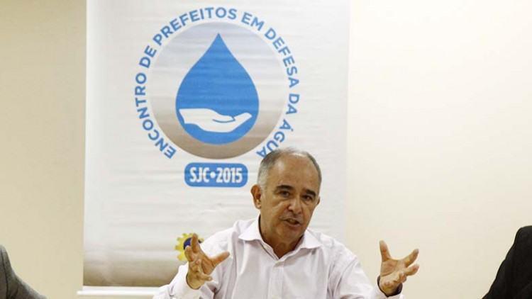 Encontro contou com a presença do diretor-presidente da ANA (Agência Nacional de Águas), Vicente Andreu Guillo. (Foto: Antônio Basílio/PMSJC)