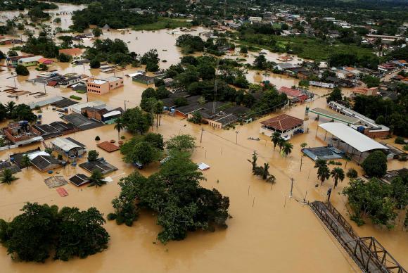 Enchente histórica atinge desabriga centenas de famílias no Acre. (Foto: Sérgio Vale/Agência de Notícias do Acre)