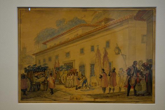 Exposição no Centro Cultural dos Correios reúne 120 obras originais de Jean-Baptiste Debret que retratou o Rio no inicio do século 19. O evento faz parte das comemorações dos 450 anos do Rio. (Foto: Tomaz Silva/Agência Brasil)