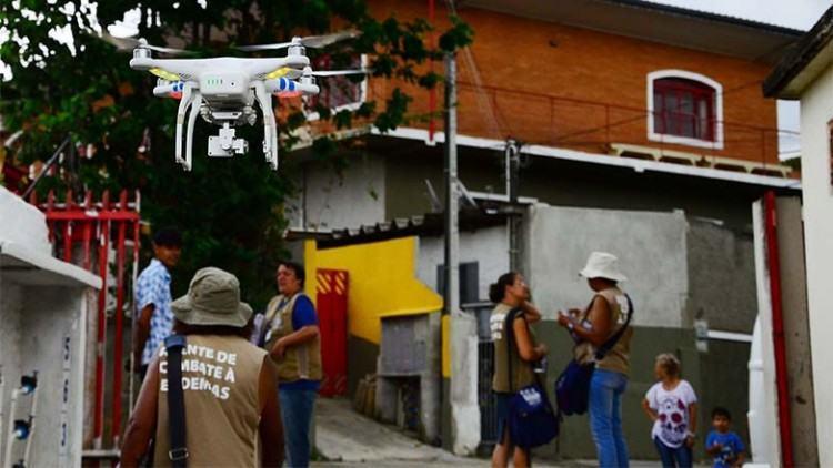 Drone foi usado para ajudar os agentes. (Foto: César Augusto/Divulgação)