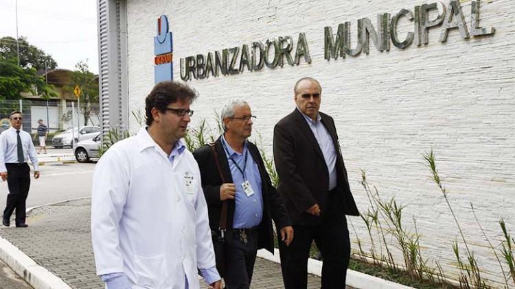 Dez professores da Escola Paulista de Medicina participaram da vistoria. Eles também visitaram as instalações do Hospital Municipal, o Centro de Reabilitação Lucy Montoro, o ITA (Instituto Tecnológico Aeronáutico) e o Parque Tecnológico. (Foto: Antônio Basílio/PMSJC)