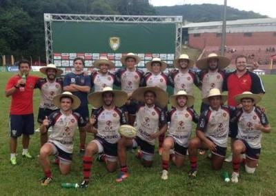 Com o placar de 40 a 0, os caipiras venceram o Desterro, campeão geral da competição. (Foto: Divulgação/CCR NovaDutra)