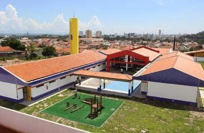 Novo e amplo equipamento: inclui pré-escola e creche para atender 250 criançasCrédito: Alex Brito/PMJ)