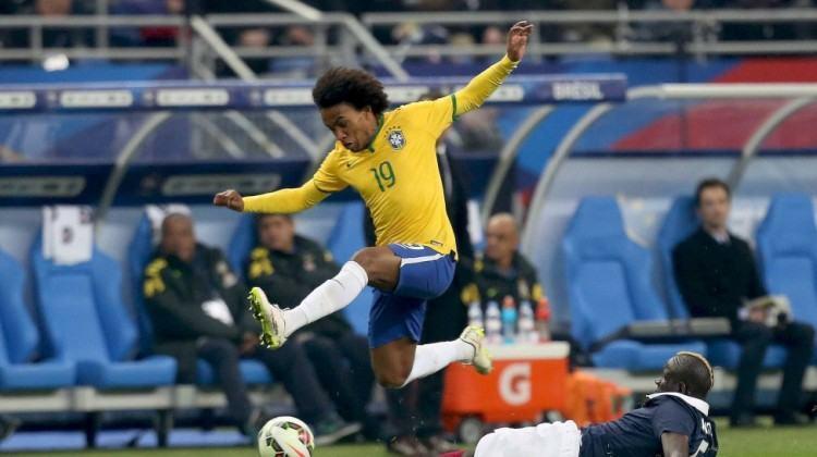 Oscar, Neymar e Luiz Gustavo foram os marcadores dos gols do time brasileiro. (Foto:  Rafael Ribeiro/CBF)