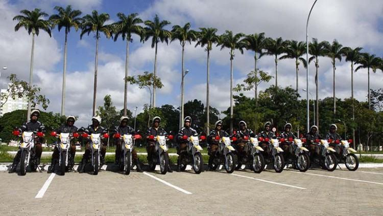 A frota de motocicletas também foi reforçada, passando de 20 para 32 motos. (Foto: Antonio Basilio/PMSJC)