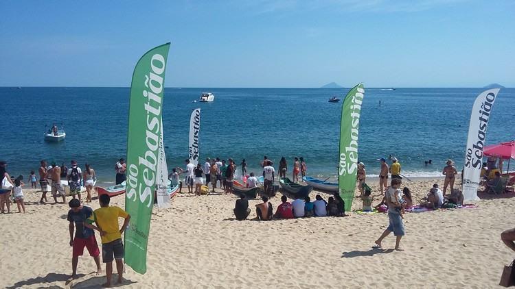 Sábado de sol e praia cheia foram palco do Torneio Aleluia 2015. (Foto: Sábado de sol e praia cheia foram palco do Torneio Aleluia 2015)