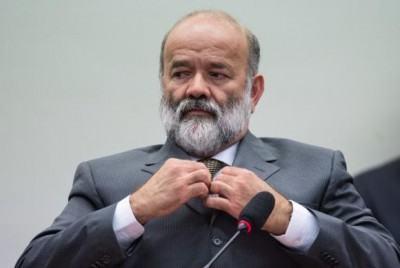 O tesoureiro do PT, João Vaccari Neto, em depoimento na CPI da Petrobras na semana passada. (Foto: Marcelo Camargo/Agência Brasil)