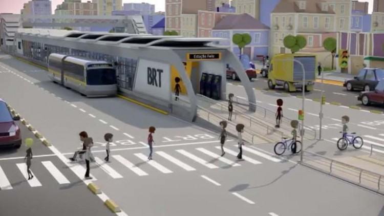 No Mobi, os ônibus vão trafegar em canaleta segregada, com uma extensão aproximada de 51 Km em todas as regiões cidade. (Foto: Ilustração/PMSJC)