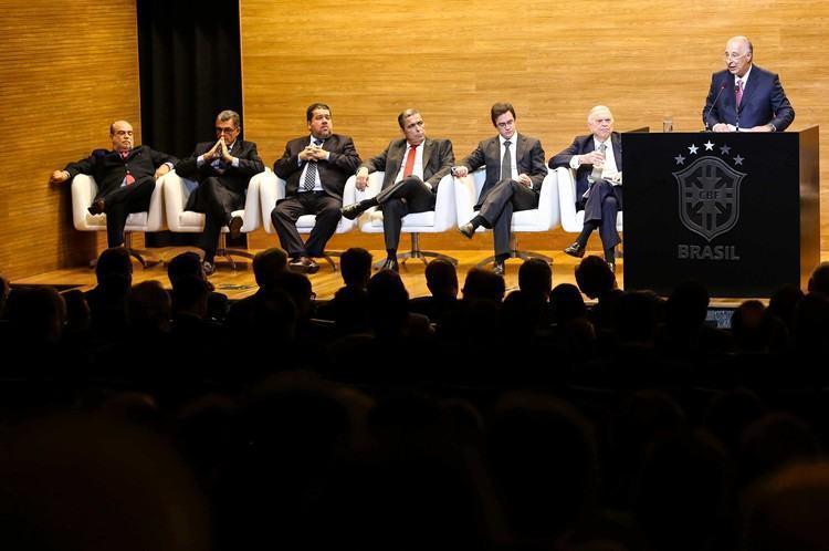 Cerimônia de posse do Presidente Marco Polo Del Nero. Na foto, Marco Polo Del Nero. (Foto: Rafael Ribeiro/ CBF)