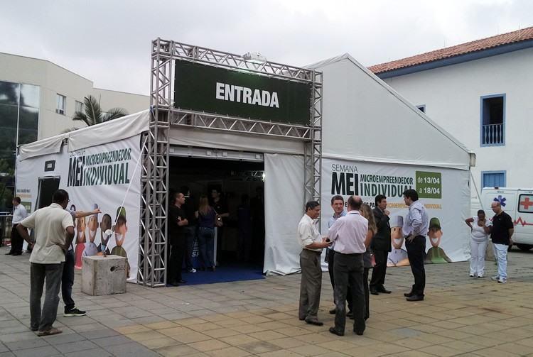 Tenda do MEI, Caravana Sebrae Móvel, palestras, oficinas e seminários trouxeram informações aos empreendedores da região. (Foto: divulgação/Sebrae-SP)