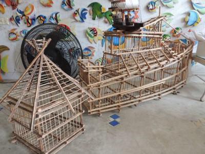 Trabalhos do artesão Clementino. (Foto: Divulgação/PMSS)