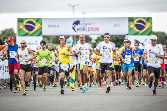 Em Brasília a corrida Wings for life World Run teve mais de 3 mil participantes. (Foto: Fabio Piva/Divulgação Wings for Life World Run)